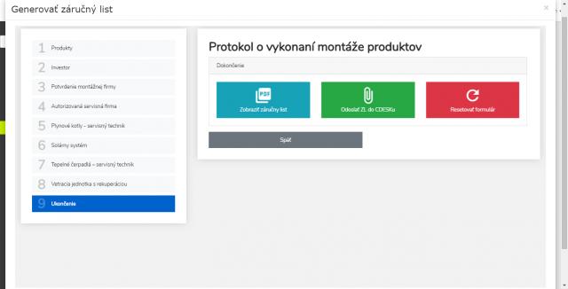 Možnosti exportu interaktívneho formulára