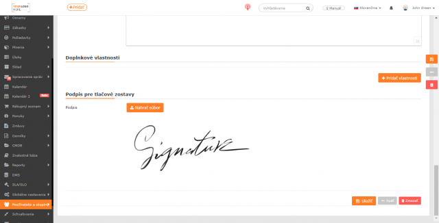 Podpis na faktúre