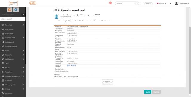 Náhľad na operátorskú mailovú notifikáciu k diskusnému príspevku