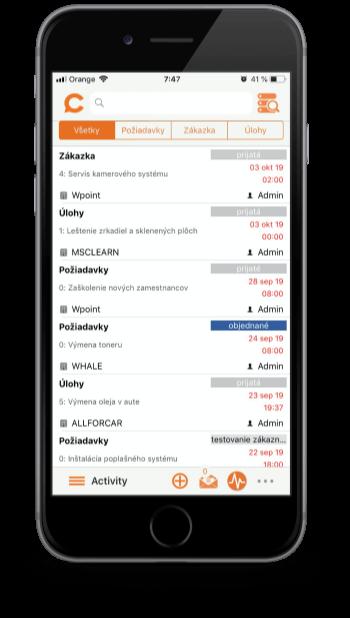 iOS verzia mobilnej aplikácie CDESK