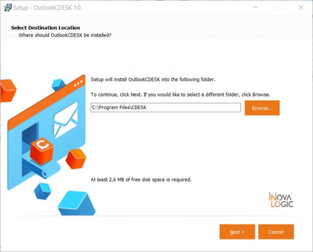 Nastavenie pre umiestnenie inštalačného súboru Outlook Plugin